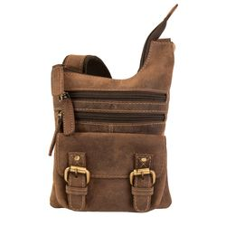 SID & VAIN cross-body bag BAILEY -2003- messenger bag MAN-HUNTER leather - brown