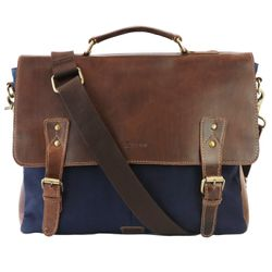 briefcase JASON Canvas & Leather