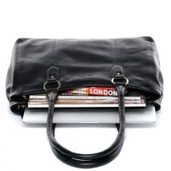 BACCINI Handtasche Soft Nappa schwarz Henkeltasche Handtasche mit langen Henkeln 3