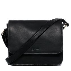 BACCINI shoulder bag ELA -2021- handbag COLUMBIA-NAPPA leather - black