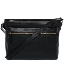 BACCINI shoulder bag & cross-body bag EMELIE  handbag L black Smooth Leather hobo shoulder strap