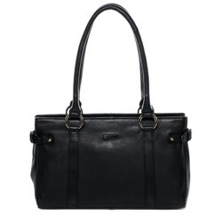 BACCINI tote bag & shoulder bag NOEMI -2025- handbag COLUMBIA-NAPPA leather - black