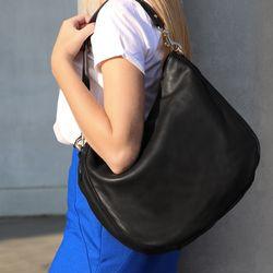 BACCINI Hobo Bag NELA Soft Nappa schwarz Hobo Bag Beuteltasche 5