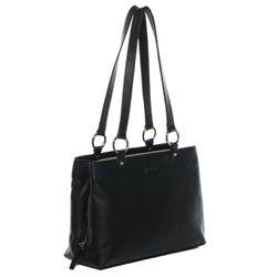 BACCINI Handtasche Soft Nappa schwarz Henkeltasche Handtasche mit langen Henkeln 2