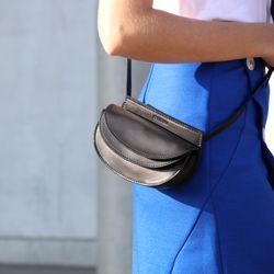 FEYNSINN Hüfttasche Glattleder schwarz Bauchtasche aus Leder Hüfttasche 4