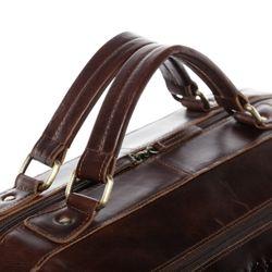 SID & VAIN Reisetasche Schuh-Fach Natur-Leder braun-cognac Sporttasche Reisetasche mit separatem Schuh-Fach Hemden 9