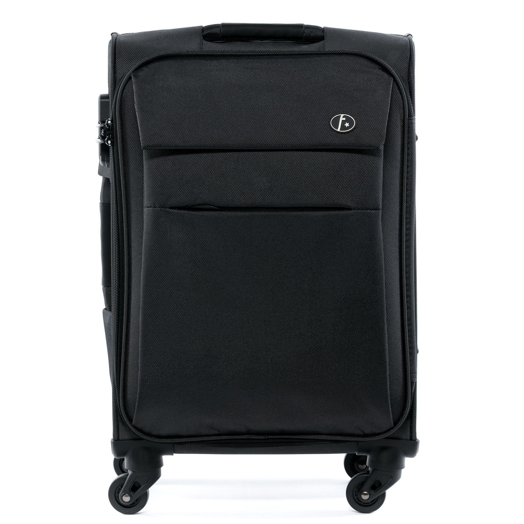 ferg 3er kofferset weichgep ck reise stoff koffer trolley. Black Bedroom Furniture Sets. Home Design Ideas