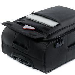 FERGÉ Kofferset 3-teilig leicht Calais Trolley-Stoffkoffer 3 Größen Nylon Koffer-Set Leicht 3er Weichschalenkoffer Set 4 Komfortrollen (360°) 3