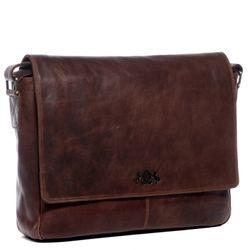 SID & VAIN Messenger Bag Natur-Leder vintage-braun Businesstasche Laptoptasche Messenger Bag 4