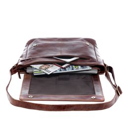 SID & VAIN Messenger Laptoptasche SPENCER Natur-Leder vintage-braun Businesstasche Laptoptasche Messenger Bag 2