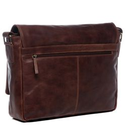SID & VAIN Messenger Laptoptasche SPENCER Natur-Leder vintage-braun Businesstasche Laptoptasche Messenger Bag 3