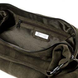 BACCINI Beuteltasche Wildleder olive Hobo Bag Beuteltasche 4