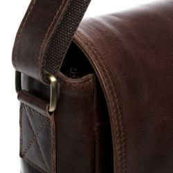 SID & VAIN Messenger Laptoptasche SPENCER Natur-Leder braun-cognac Businesstasche Laptoptasche Messenger Bag 7
