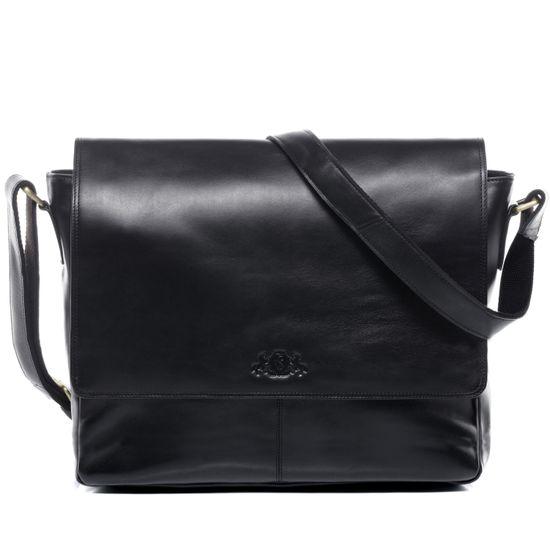 SID & VAIN Messenger Laptoptasche Echtleder SPENCER schwarz Businesstasche | Taschen > Businesstaschen | Schwarz | SID & VAIN