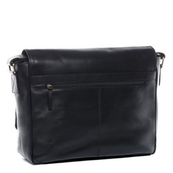 SID & VAIN Messenger Bag Glattleder schwarz Businesstasche Laptoptasche Messenger Bag 2