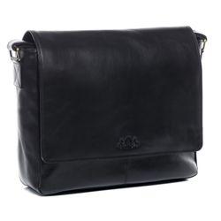 SID & VAIN sac messenger ordinateur portable cuir noir sac en bandoulière sac messager école etudiante travail 4