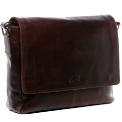 SID & VAIN Messenger Bag Natur-Leder braun-cognac Businesstasche Laptoptasche Messenger Bag 2