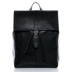 824b62d85947c BACCINI Rucksack Glattleder schwarz Backpack Tagesrucksack Kurierrucksack  Rucksack