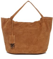 BACCINI Handtasche Wildleder hellbraun Henkeltasche Handtasche mit langen Henkeln