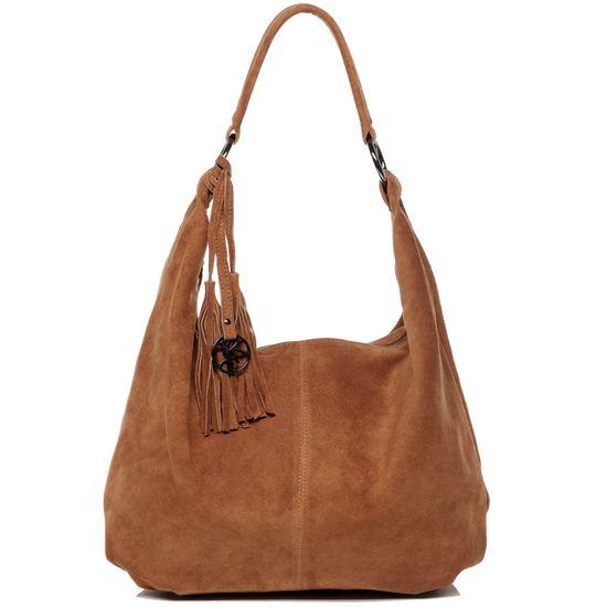 BACCINI Hobo Bag Echtleder SELINA hellbraun Beuteltasche   Taschen > Handtaschen > Beuteltaschen   BACCINI
