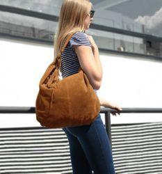 BACCINI Hobo Bag SELINA Wildleder hellbraun Hobo Bag Beuteltasche 4