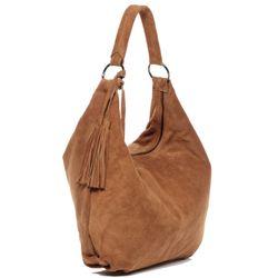 BACCINI Hobo Bag SELINA Wildleder hellbraun Hobo Bag Beuteltasche 2