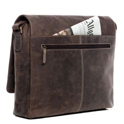 SID & VAIN Messenger Laptoptasche SPENCER Büffelleder braun Businesstasche Laptoptasche Messenger Bag 5