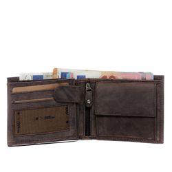 SID & VAIN Geldbeutel Büffelleder braun Brieftasche Geldbeutel 2