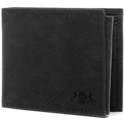 SID & VAIN Geldbeutel JACK Büffelleder grau und schwarz Brieftasche Geldbeutel 1
