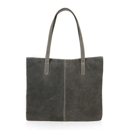 d3f5b79b56aff BACCINI Shopper Büffelleder SPECTOR grau und schwarz Henkeltasche Shopper  Taschen Damentaschen