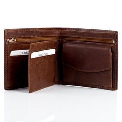 BACCINI Geldbeutel Natur-Leder choco-braun Brieftasche Geldbeutel 2