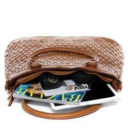 BACCINI Handtasche ROSA Henkeltasche L Vintage Leder Reise-Henkeltasche Shopper Ledertasche 4