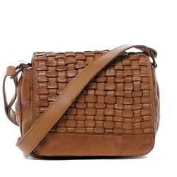 BACCINI shoulder bag ROSA - KX-7- handbag SMOOTH leather - tan brown