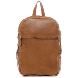 BACCINI backpack slim DARIO - KX-750 - daybag leather tan brown