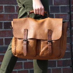 BACCINI Aktentasche FABIO Bürotasche Laptoptasche L Vintage Leder Aktentasche Messenger Businesstasche 6