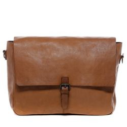 BACCINI Messenger bag Washed Leder camel-beige Laptoptasche Messenger bag