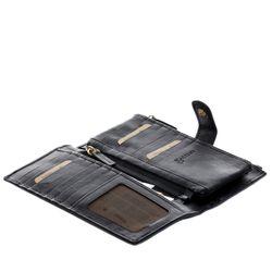 BACCINI Portemonnaie Soft Nappa schwarz Geldbörse Portemonnaie 4