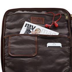 SID & VAIN Laptop-Hülle Natur-Leder braun-cognac Hülle Reißverschluss Laptop-Hülle 3