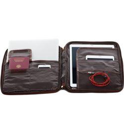SID & VAIN Laptop-Hülle Natur-Leder braun-cognac Hülle Reißverschluss Laptop-Hülle 4