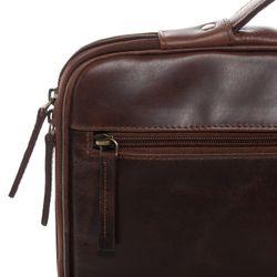 SID & VAIN Laptop-Hülle Natur-Leder braun-cognac Hülle Reißverschluss Laptop-Hülle 2