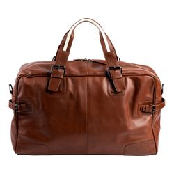BACCINI travel bag ROBERTO -79- weekender CRUMPLY leather - brown-crumply
