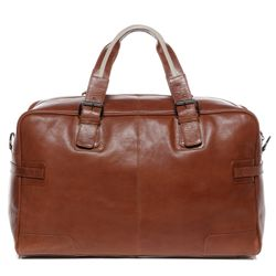 BACCINI travel bag ROBERTO -79- weekender VT-ANALIN leather - tan-cognac