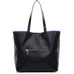 BACCINI 2-side-tote JUCY black-blue COLUMBIA-SUEDE