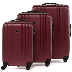 FERGÉ 3xTrolley-single - 3 sizes - XB-06-3 - Marseille brushed-burgundy ABS