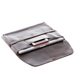 SID & VAIN Laptop-Hülle HARVORD Natur-Leder Laptop-Sleeve Vintage-Leder braun 2