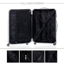 FERGÉ 3er Kofferset CANNES ABS Dure-Flex Burgundrot 3er Hartschalenkoffer Roll-Koffer 4 Rollen Kofferset Hartschale 3-teilig 7