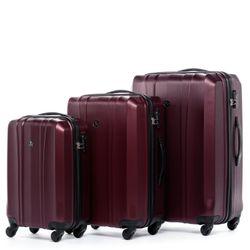 FERGÉ Kofferset 3-teilig Dijon Trolley-Koffer Hartschale leicht 3 Größen ABS Dure-Flex Koffer-Set Leicht 3er Hartschalenkoffer Set 4 Komfortrollen (360°) 3
