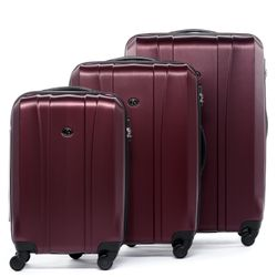 luggage set 3 piece Dijon ABS