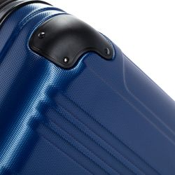 FERGÉ 3er Kofferset QUÉBEC ABS Dure-Flex royal-blau 3er Hartschalenkoffer Roll-Koffer 4 Rollen Kofferset Hartschale 3-teilig 2