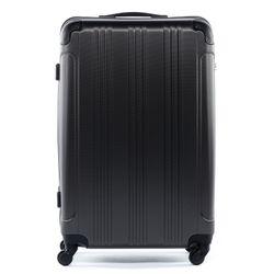 FERGÉ 3er Kofferset QUÉBEC ABS Dure-Flex anthrazit 3er Hartschalenkoffer Roll-Koffer 4 Rollen Kofferset Hartschale 3-teilig 2